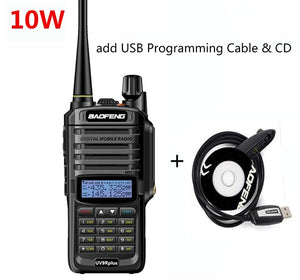Walkie talkie Baofeng UV-9R plus, 10W, 4800mah, 25 km long range, VHF & UHF ham radio, CB radio station - BittyDeal