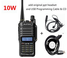 Load image into Gallery viewer, Walkie talkie Baofeng UV-9R plus, 10W, 4800mah, 25 km long range, VHF & UHF ham radio, CB radio station - BittyDeal
