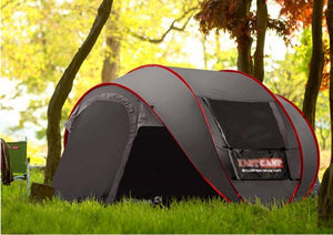New Style Pop Up Ultralarge 4~5 Person Fully Automatic Speed Open With Mosquito Net Outdoor Camping Beach Tent Sun Shelter - BittyDeal