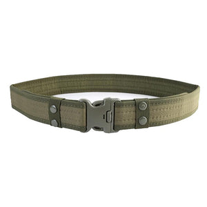 New Combat Canvas Duty Tactical Sport Belt with Plastic Buckle Army Military Adjustable Outdoor Fan Hook  Loop Waistband - BittyDeal