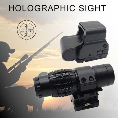 3xMagnifying Glass Holographic Sight Black Matte Hunting Scope Latest Outdoor Sightseeing Tool For Hunting Collimator Sight Tool - BittyDeal