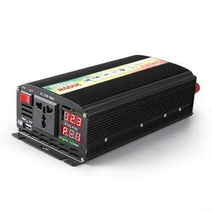 1000W Vehicle inverter, 12V /24V/48V to 220V, Digital display with P-1/2/3 fault code - FlexPro