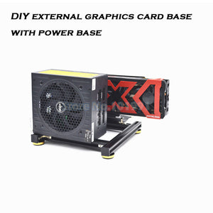 Graphics card holder DIY external graphics card base with power base for ATX SFX PSU  aluminum - BittyDeal
