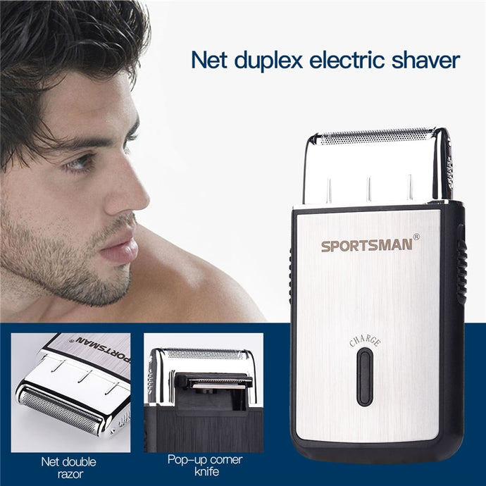 Single Blade Razor, Mini Electric Shaver Machine, USB Rechargeable - FlexPro