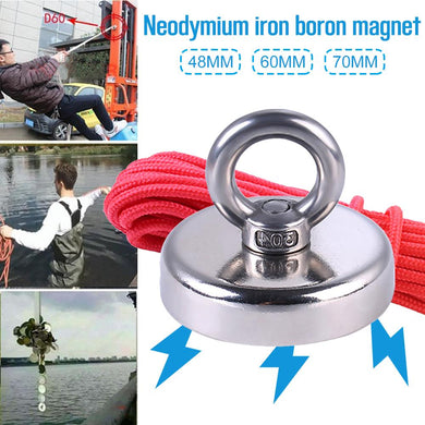 Special Heavy Duty Wall Hooks Hanger, Neodymium Magnetic, 20m Rope - BittyDeal