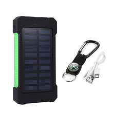 Load image into Gallery viewer, Portable Solar Power Bank, 20000 mAh, DUAL Ports, Shockproof & Waterproof IP67 External Battery - FlexPro