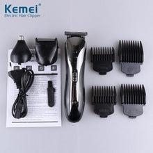 Load image into Gallery viewer, KEMEI KM-1407 Electric Cordless Hair Clipper, 3 in 1, Waterproof, Rechargeable Professional Electric Razor - FlexPro