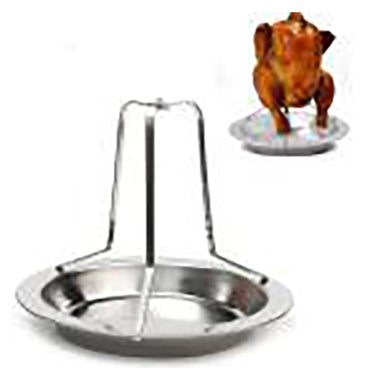 BBQ Chicken Roaster Holder Rack, BBQ Pan, Grilling Tool - BittyDeal