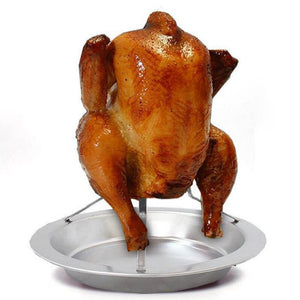 BBQ Chicken Roaster Holder Rack, BBQ Pan, Grilling Tool - FlexPro