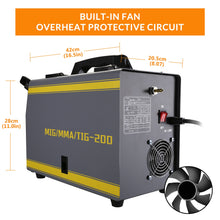 Load image into Gallery viewer, 3 in 1 - Electric Gasles Welder, MIG/TIG/MMA, DEKO MKA-200Y, 5.6KVA, 220V - BittyDeal