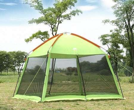 High quality single layer 5-8person family party gardon beach camping tent gazebo sun shelter pergola mosquito net 2colors - BittyDeal
