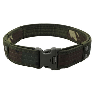 Sport & Tactical Belt, 2 Inch Canvas Duty, with Plastic Buckle, Adjustable & Loop Waistband, Combat, Army, Military - BittyDeal