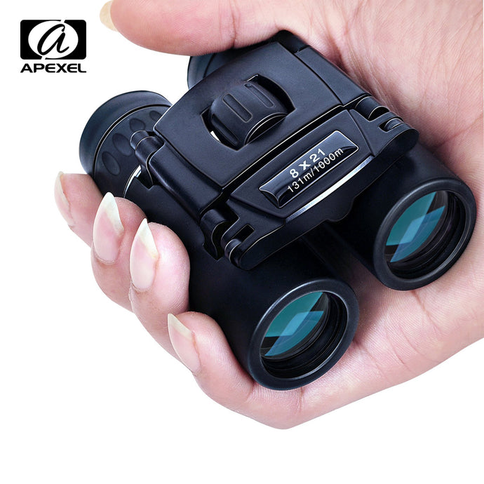 APEXEL 8x21 Compact Zoom Binoculars Long Range 1000m Folding HD Powerful Mini Telescope BAK4 FMC Optics Hunting Sports Camping - FlexPro