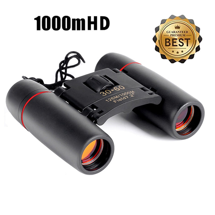 Zoom Telescope 30x60 Folding Binoculars with Low Light Night Vision for outdoor bird watching travelling hunting camping 1000m - BittyDeal