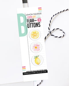 Lemon Squeeze Flair Buttons