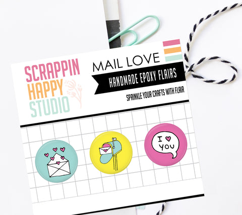 Mail Love Epoxy Flair