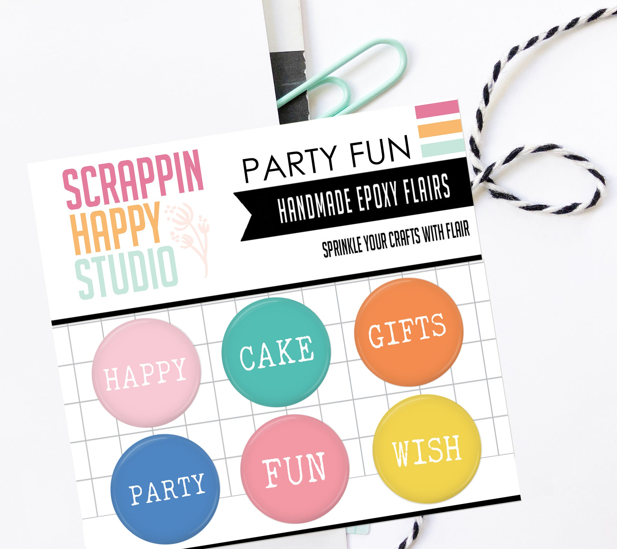 Party Fun Epoxy Flair