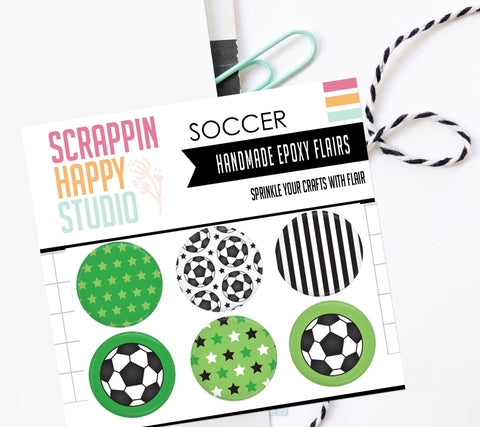 Soccer Epoxy Flair