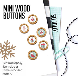 So Jolly Mini Wood Epoxy Buttons