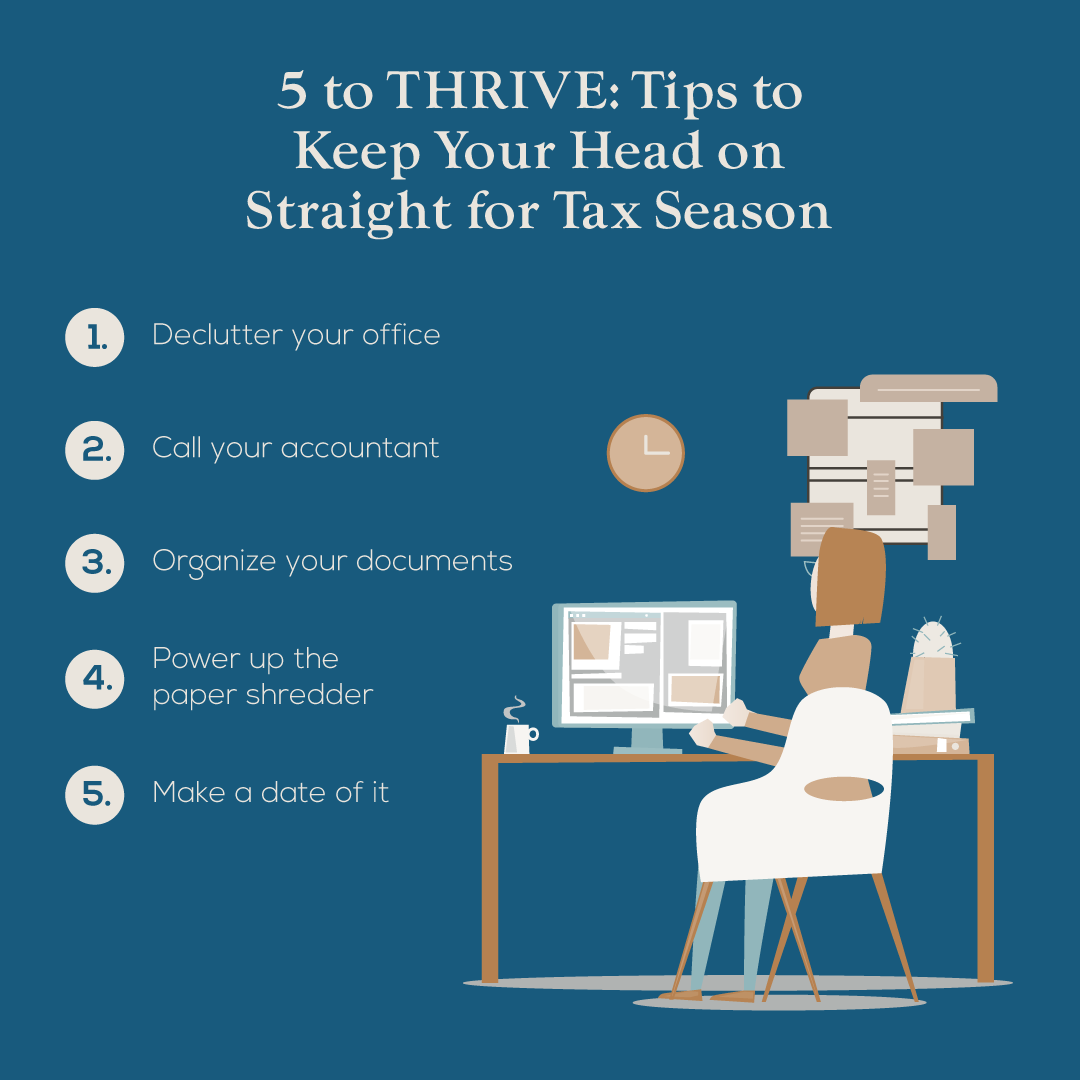 5 to THRIVE: 5 Tips to Stop Your Tax Preparer from Hating You – Especially if You Prepare Your Own Taxes!
