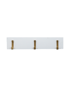 1 Half strip hooks white wood with black metal hooks