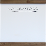 1 Medium whiteboard for notes and to-do with wood trim