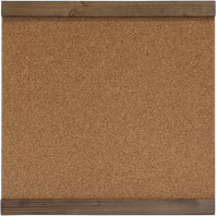 1 Medium corkboard with wood trim