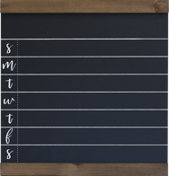 1 Medium weekly chalkboard with wood trim