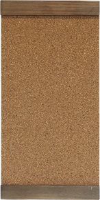 1 Small corkboard with wood trim
