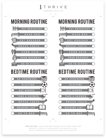 Daily Routine Checklist