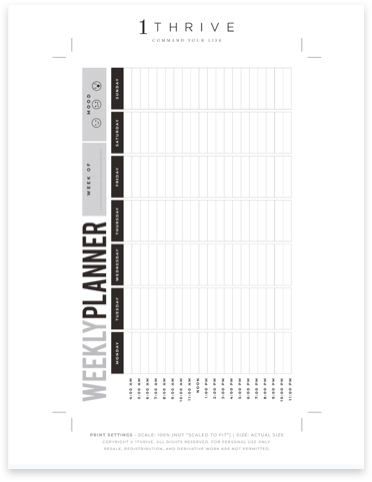 Weekly Family Activity Planner