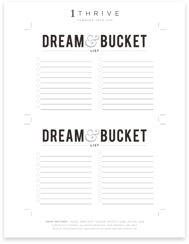 Dream Bucket List
