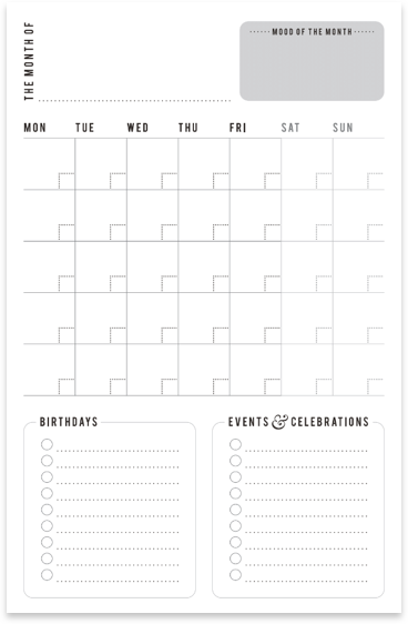 Monthly Family Planner