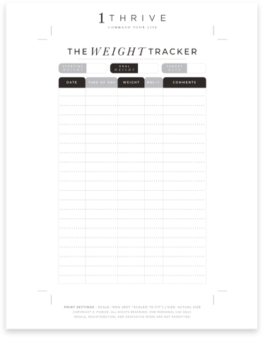 Weekly Weight Loss Tracker