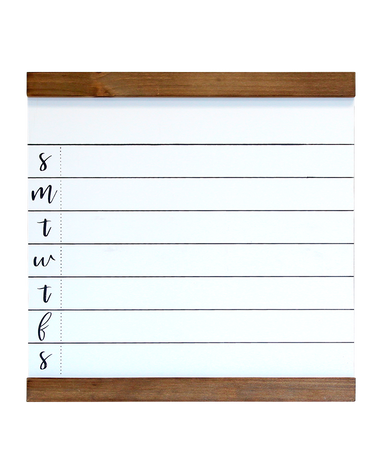 Medium White Weekly 1WRITE Board