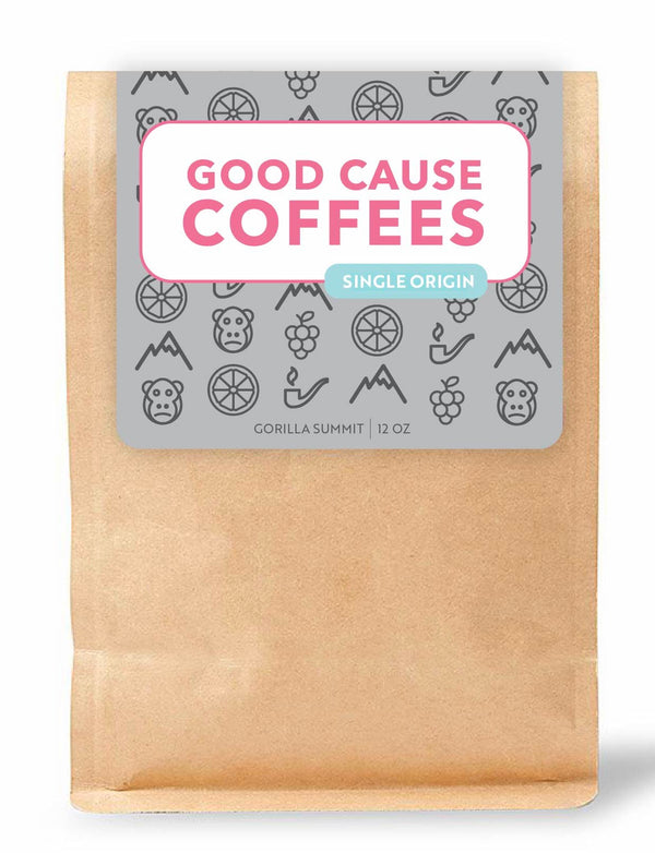 Good Cause Coffees Single Origin Gorilla Summit coffee