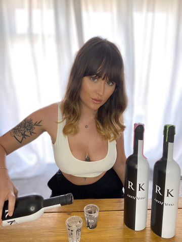 Beth Halsey Enjoying RK VODKA (Founder of Luxe Underwear)