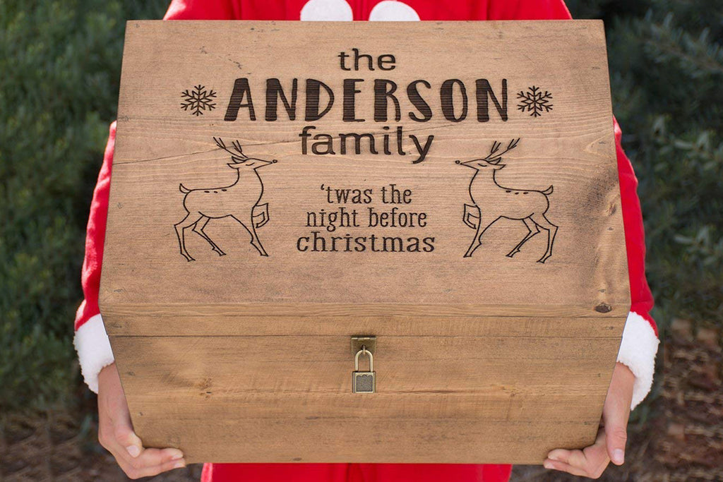 Engraved Night Before Christmas Box - Personalized Family Keepsake Gift Box