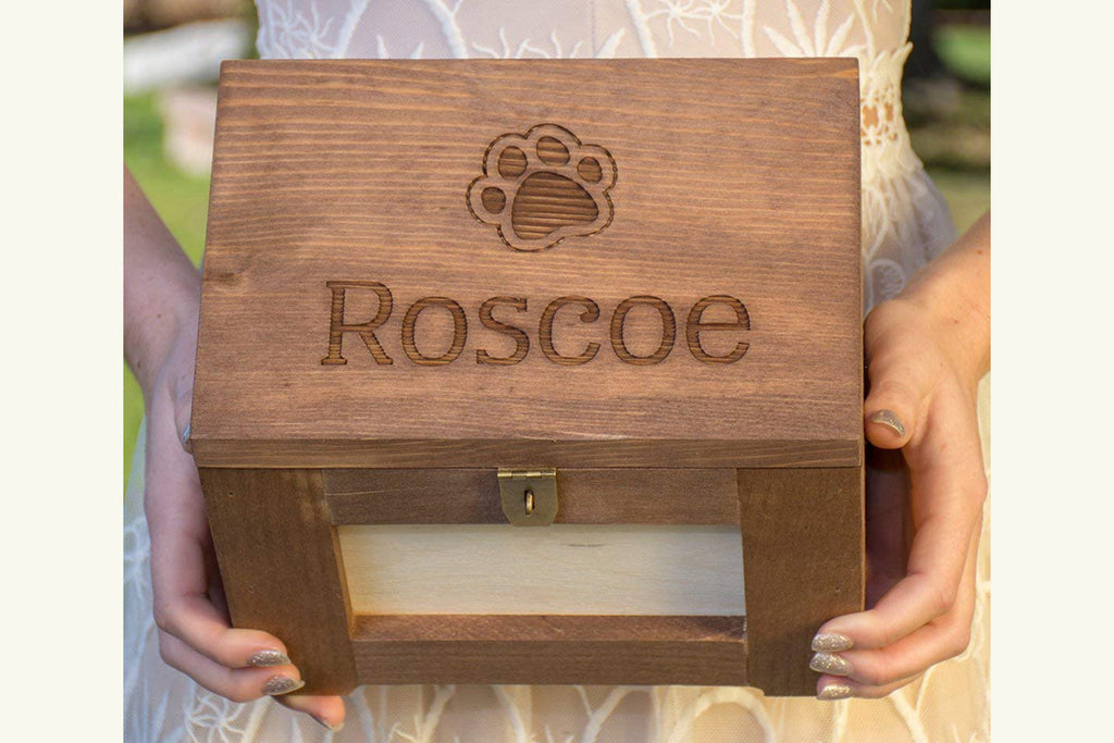 Pet Memory Box/Urn Cat Memorial Photo Frame Chest, Personalized