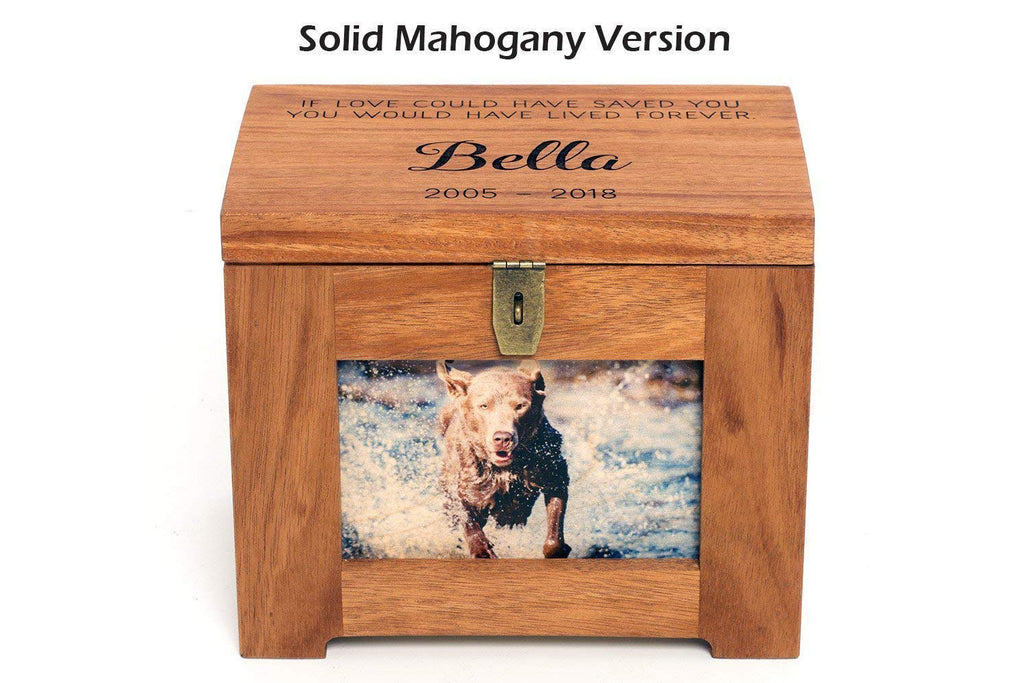 Pet Memory Box/Urn with Name and Quote or Poem, Personalized