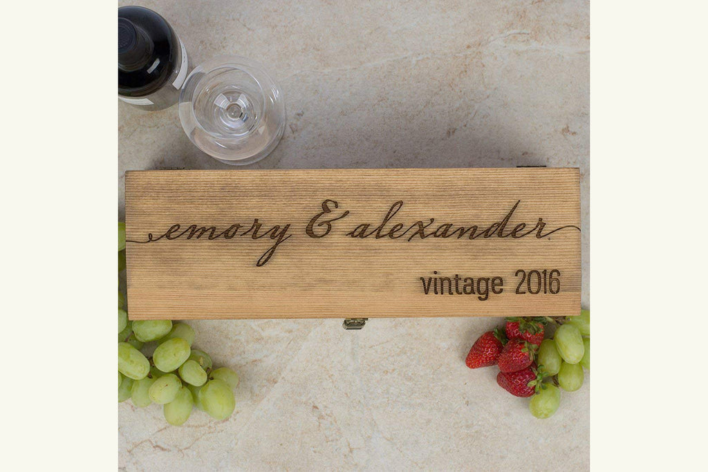Engraved Wine Box - Personalized with Client Name and Close Date
