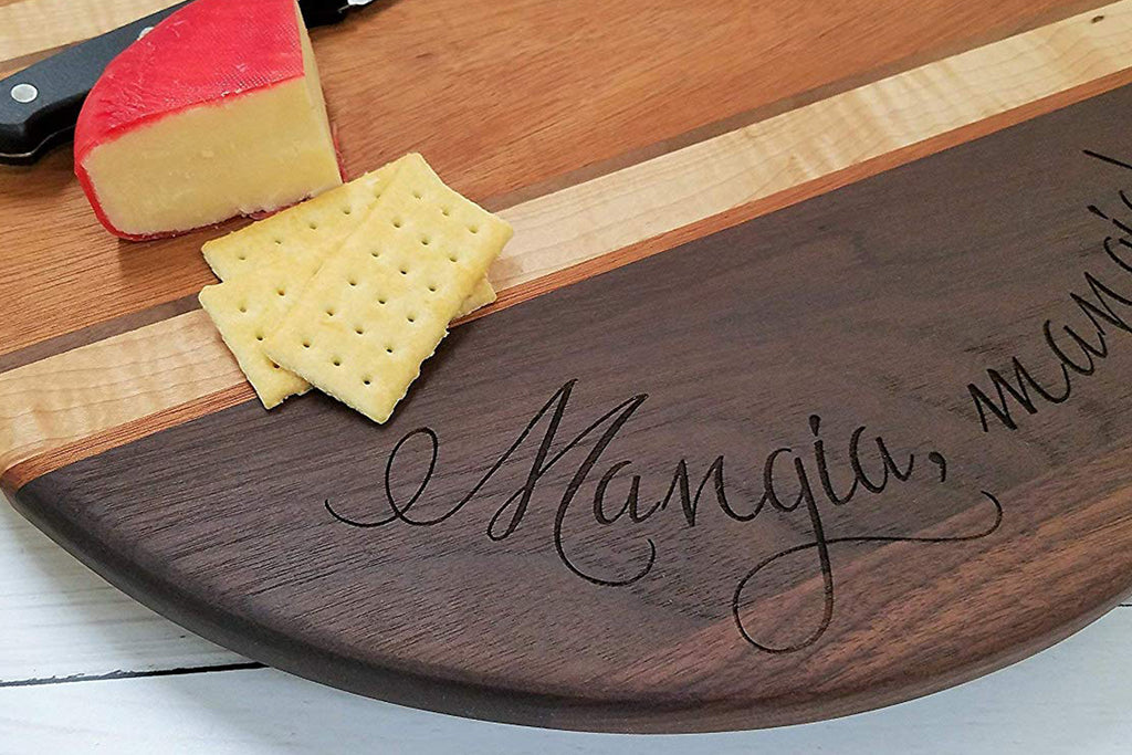 Hardwood Cutting Board Custom Chopping Block - Walnut, Mahogany, Maple Hardwoods