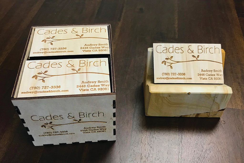 50 Wood Business Cards