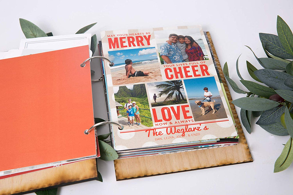 Christmas Card Personalized Binder Photo Album