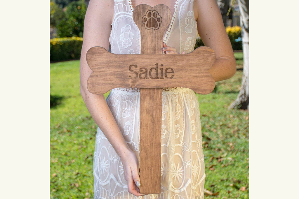 Dog Bone Personalized Memorial Cross