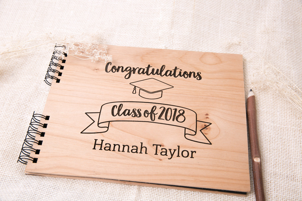 Graduation Photo Album or Guest Book | Name & Year, Personalized