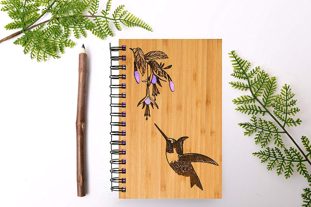 Hummingbird Personalized Wood Journal