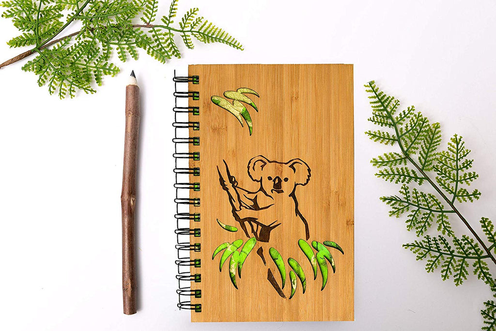 Koala Bear Personalized Wood Journal