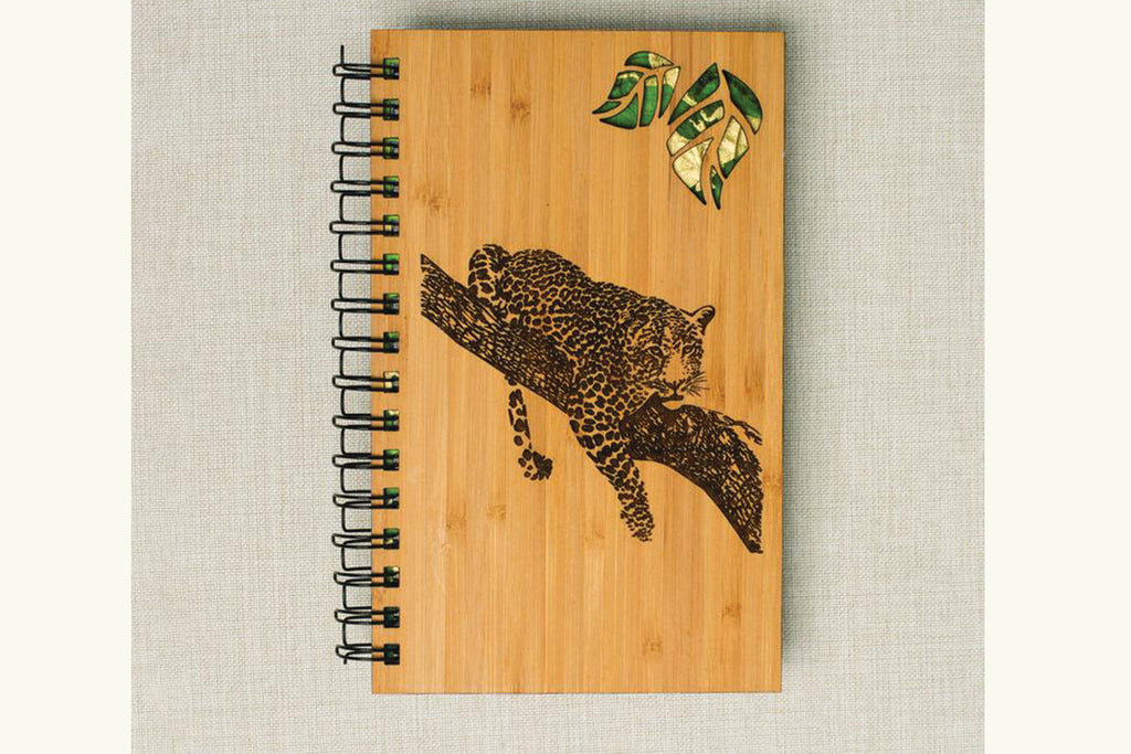 Leopard Personalized Wood Journal