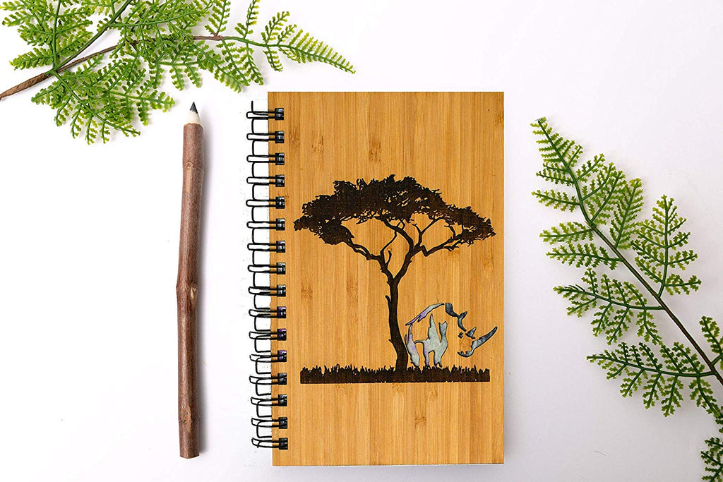 Rhino Personalized Wood Journal